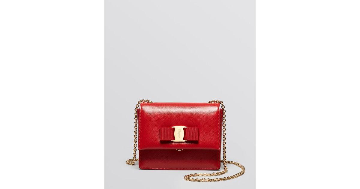 Lyst - Ferragamo Crossbody Ginny Mini in Red 81d2dc290800a