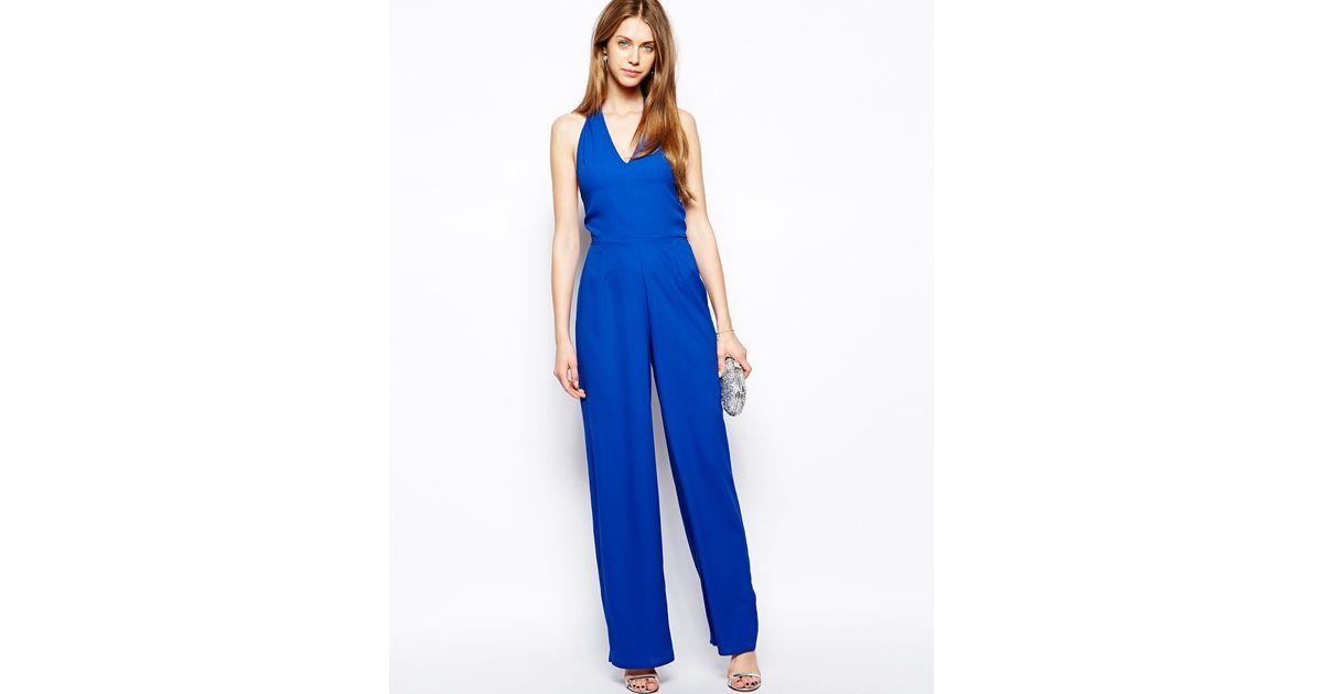 aa4038e795 Lyst - Love Halterneck Jumpsuit in Blue