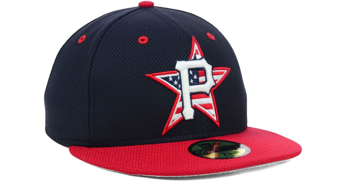 the best attitude 2da81 8e9fd ... uk lyst ktz pittsburgh pirates mlb 2014 ac july 4th stars stripes  59fifty cap in blue