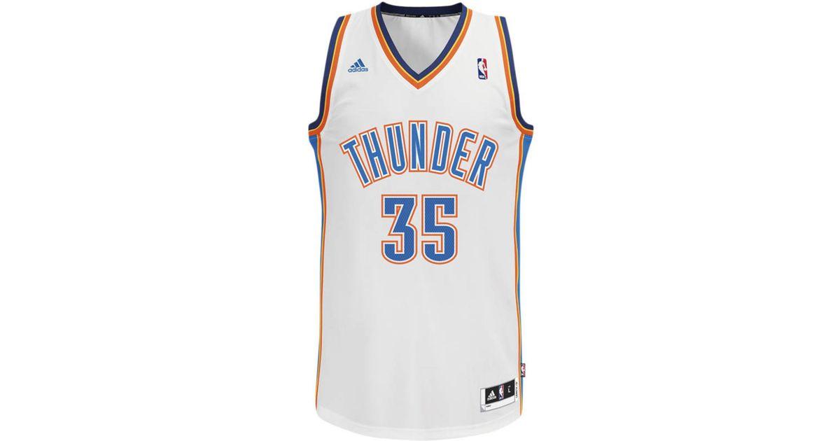 9b2bfcff8 adidas Men s Oklahoma City Thunder Kevin Durant Jersey in White for Men -  Lyst