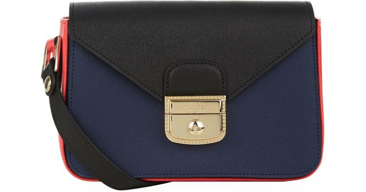 074c411cf2e8 Longchamp Le Pliage Hã©ritage Tri-colour Crossbody Bag in Blue - Lyst