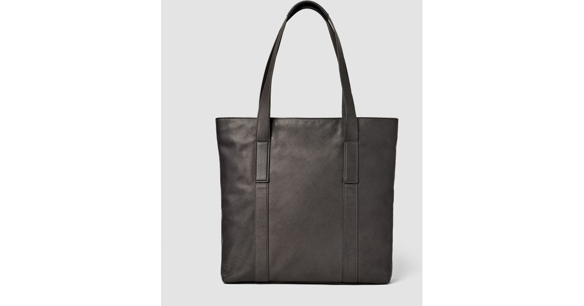 8df008593b8 AllSaints Boundary Leather Tote Bag Usa Usa in Gray for Men - Lyst