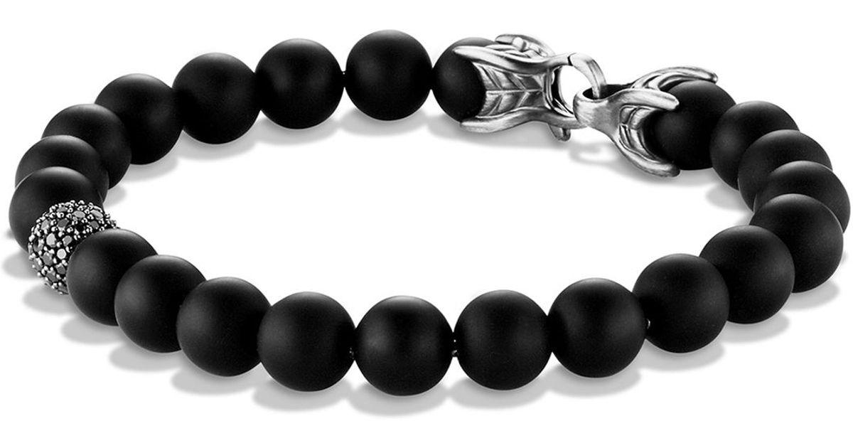 David Yurman Spiritual Beads black onyx bracelet TA9GwB