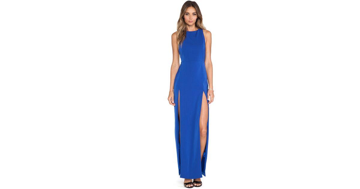 5144509777 AQ AQ Lexi Maxi Dress in Blue - Lyst