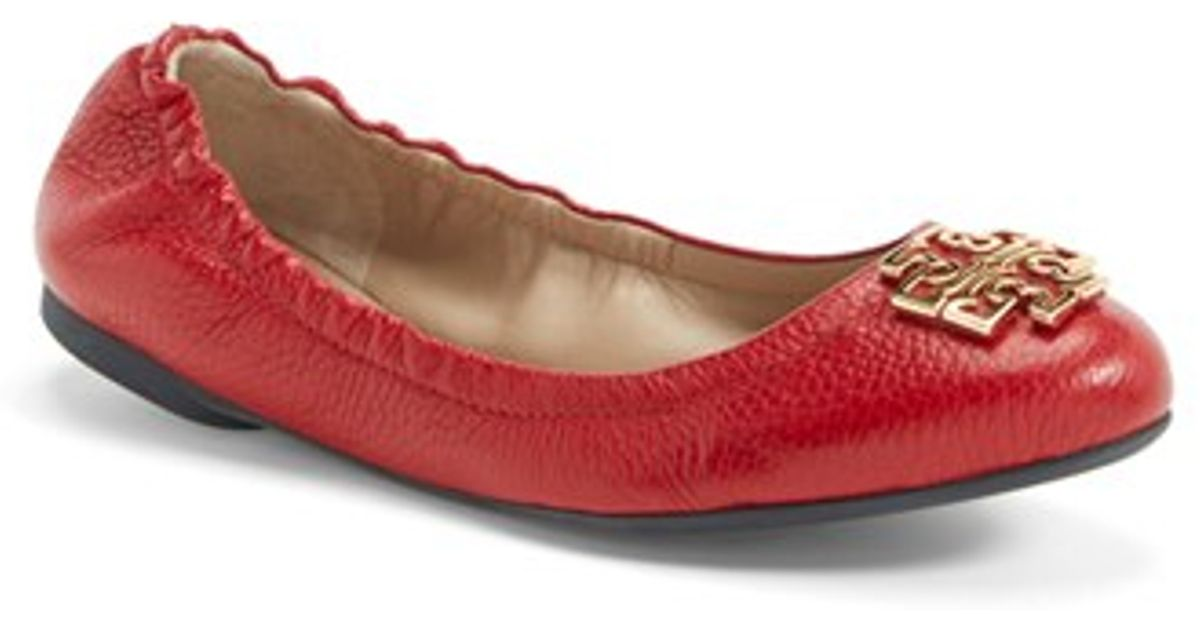 e3ef907536 Tory Burch 'melinda' Ballet Flat in Red - Lyst