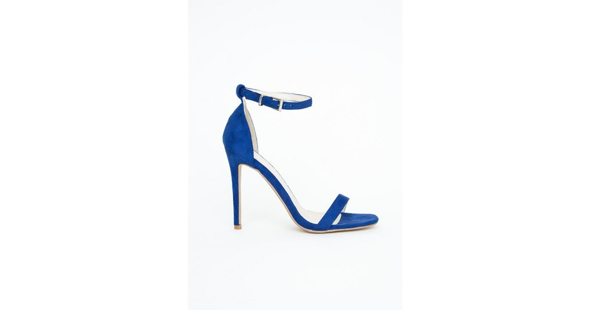 6f02d2a40eaf Lyst - Missguided Clara Cobalt Blue Strappy Heeled Sandals in Blue