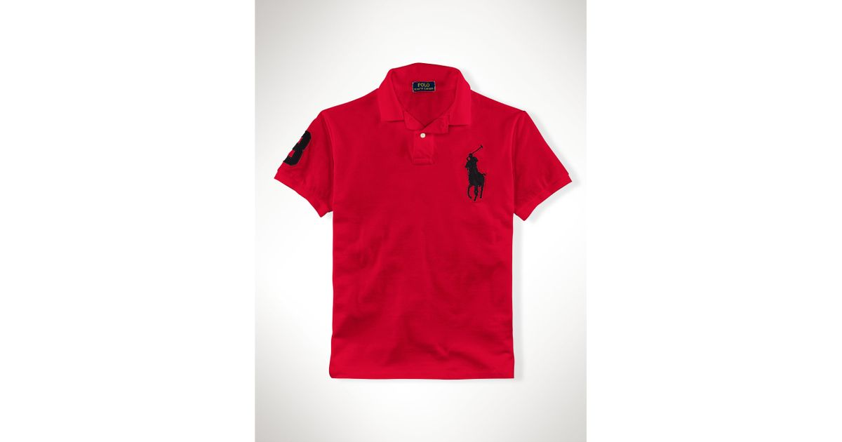 ralph lauren pumps black black and red big pony polo
