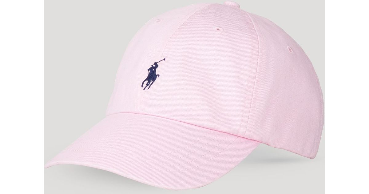 039c2003a0716 Lyst Ralph Lauren Polo Clic Chino Sports Cap In Pink For Men