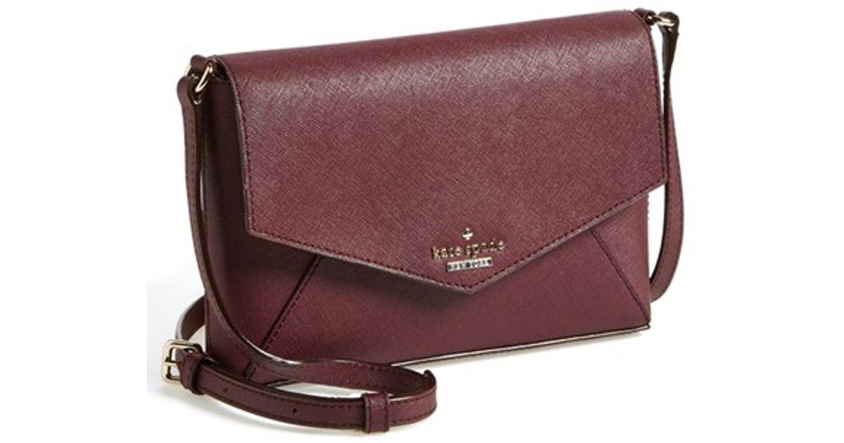 Lyst - Kate Spade  cedar Street - Large Monday  Crossbody Bag - Burgundy in  Purple d3233cdeb66bb