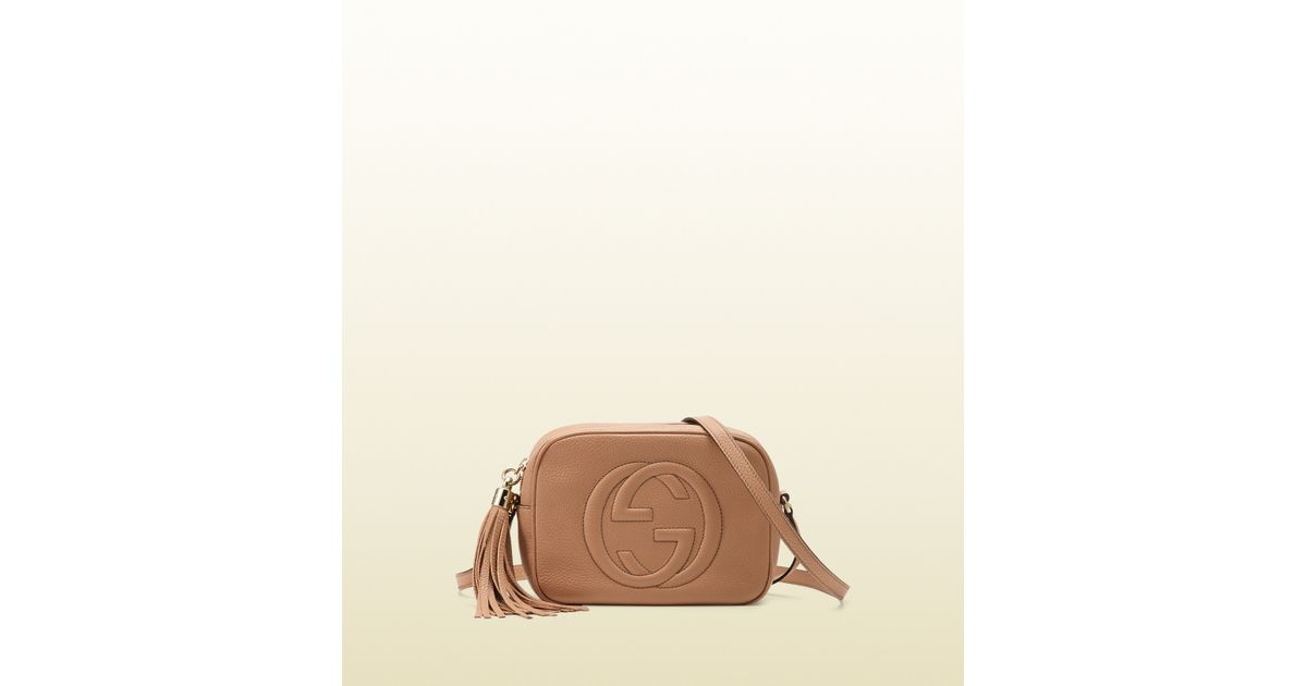 ab6d26dbe Gucci Soho Leather Disco Bag in Natural - Lyst
