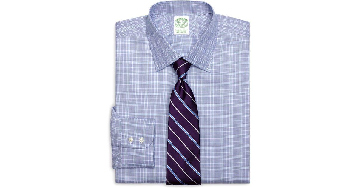 Lyst Brooks Brothers Extra Slim Fit Glen Plaid Dress
