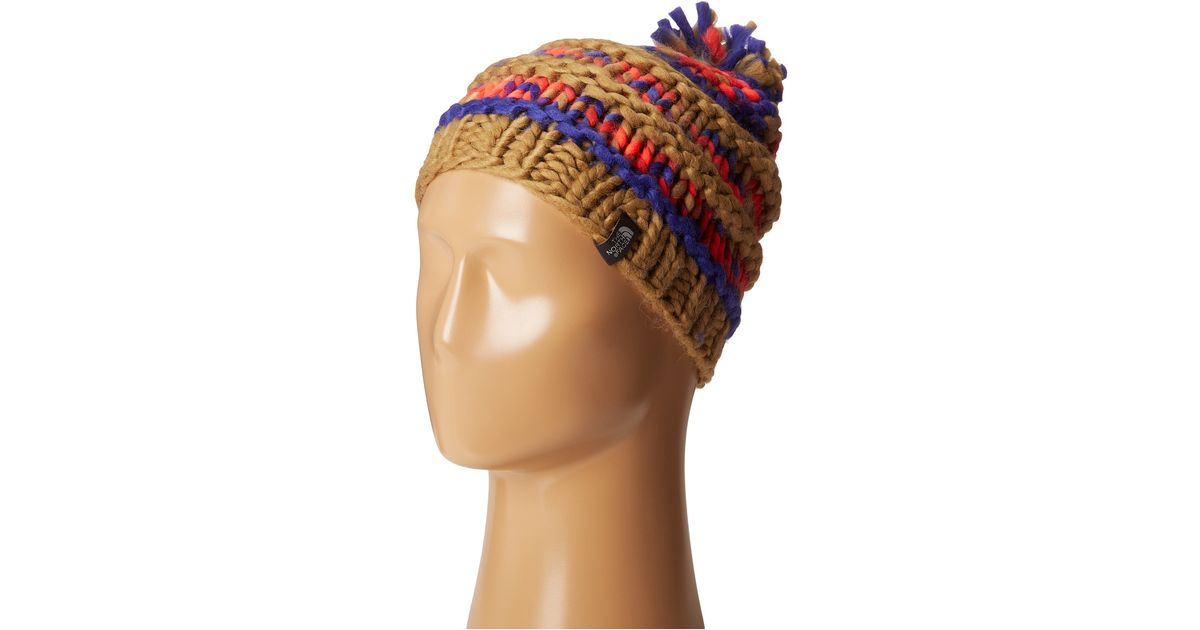 7011eaac858f8 The North Face Nanny Knit Beanie - Lyst