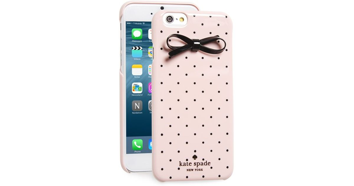 Lyst - Kate Spade  gold Dot   Bow  Iphone 6   6s Case in Pink 91099c672a