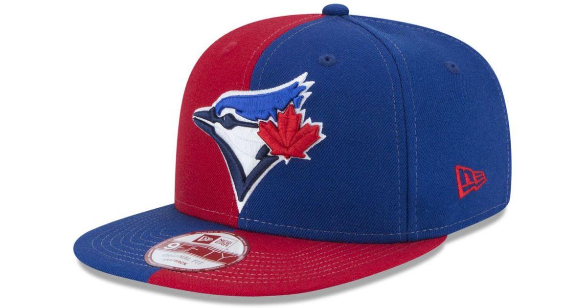 watch 1a66e a1755 KTZ Toronto Blue Jays Double Splitem 9fifty Snapback Cap in Blue for Men -  Lyst