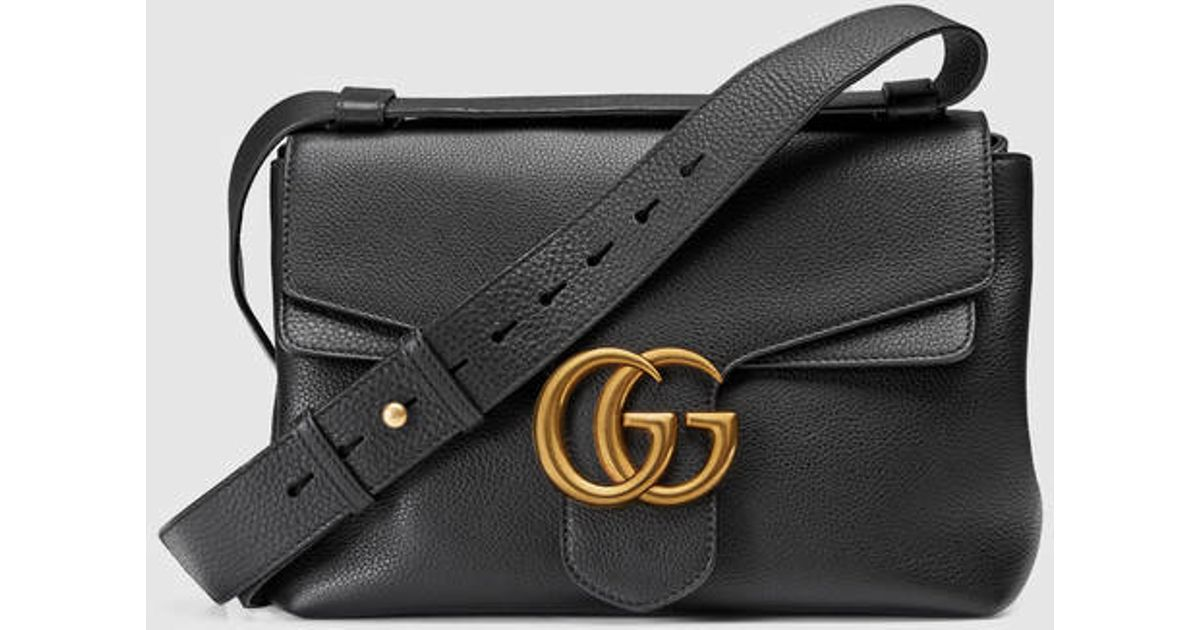 Gucci GG Marmont Medium Leather Shoulder Bag isXU82sBk