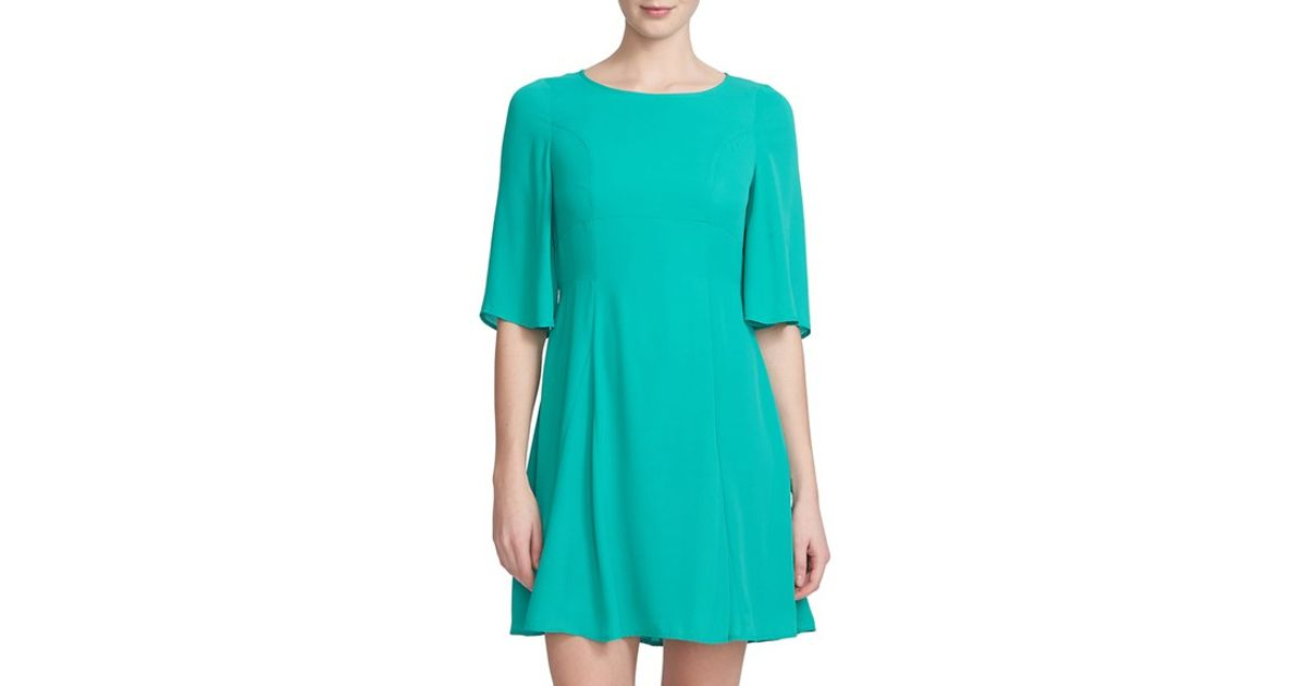 Cece by cynthia steffe crepe de chine skater dress in