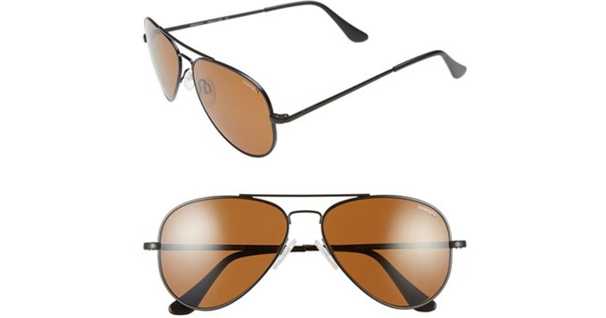 4af7f079a0ac Lyst - Randolph Engineering  concorde  57mm Polarized Aviator Sunglasses in  Black