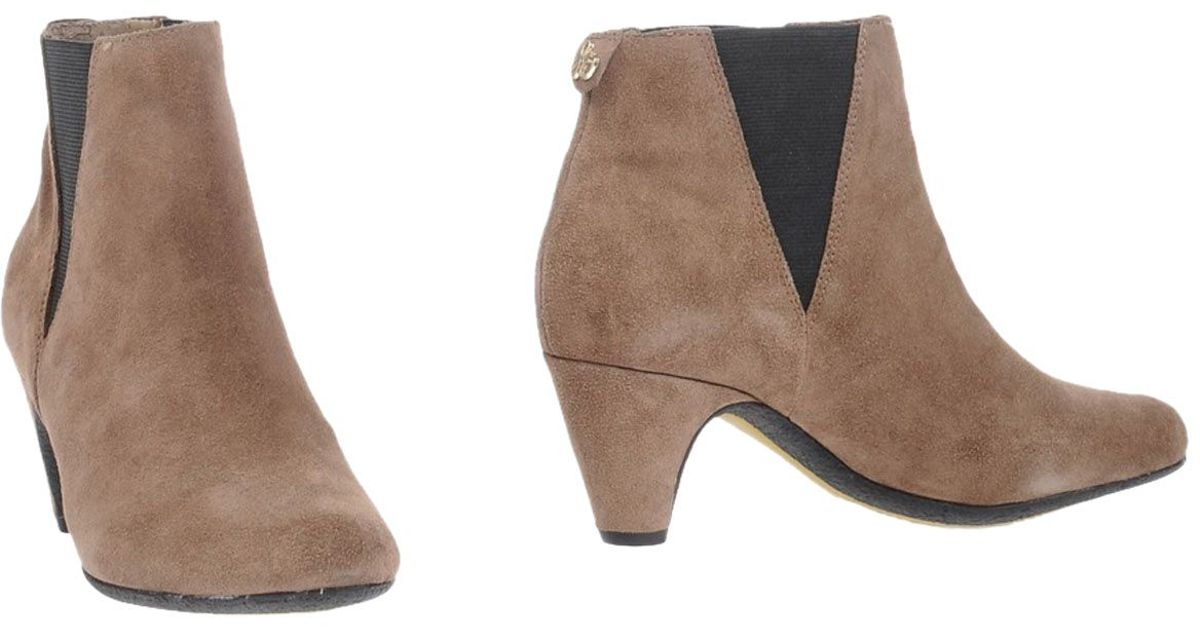 471ce6444185d Lyst - Sam Edelman Ankle Boots in Brown