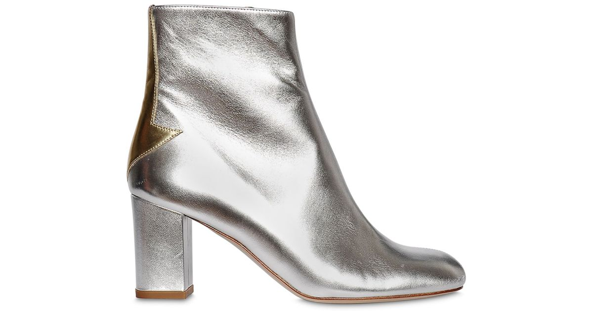Lyst Camilla Elphick 75mm Silver Lining Leather Boots In Metallic