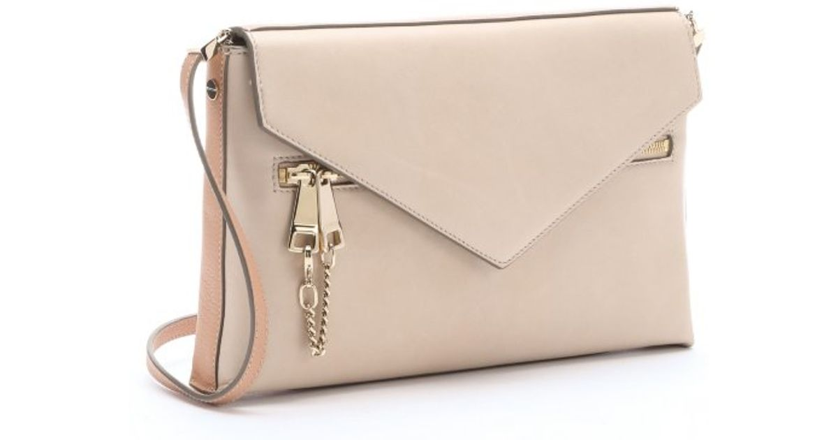 Chlo¨¦ Rope Beige Lambskin Envelope Shoulder Bag in Beige | Lyst