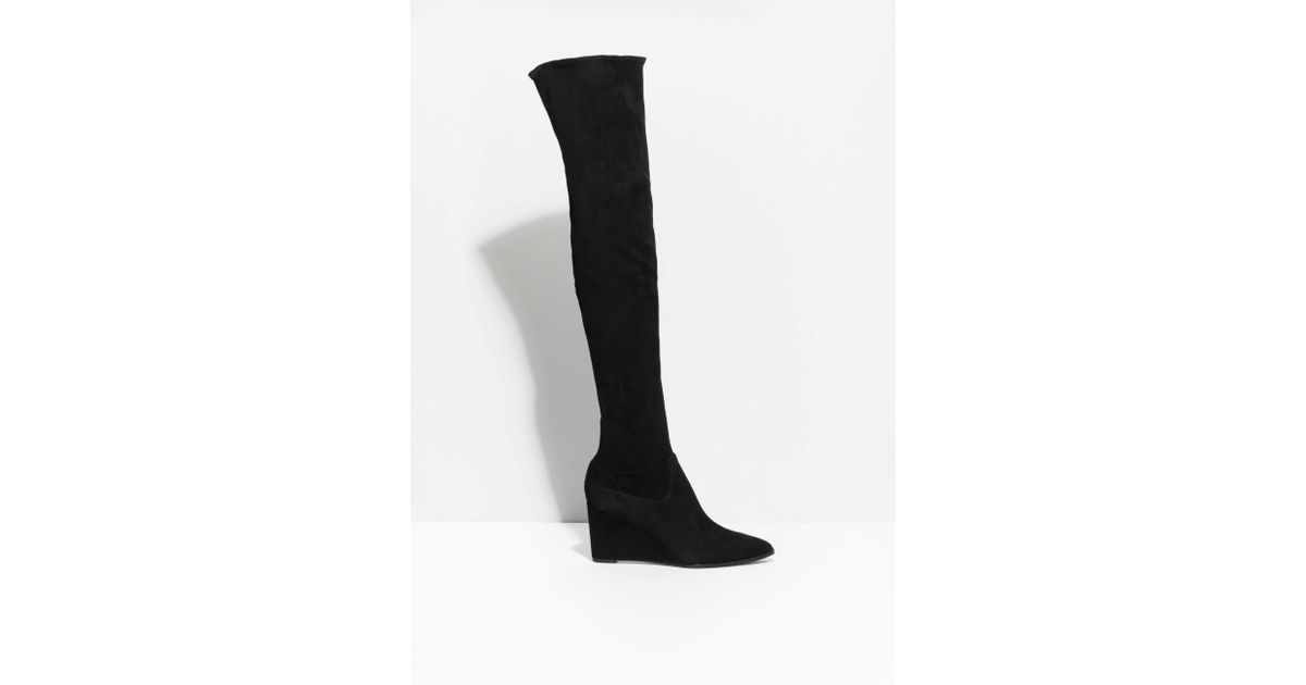 f72d933c285   Other Stories Over-knee Boots in Black - Lyst