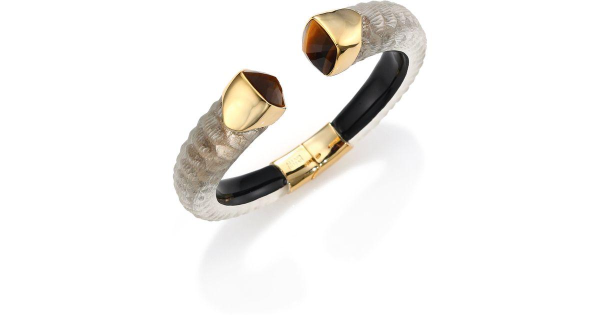 Alexis Bittar Textured Crystal Cuff Bracelet RQAMj