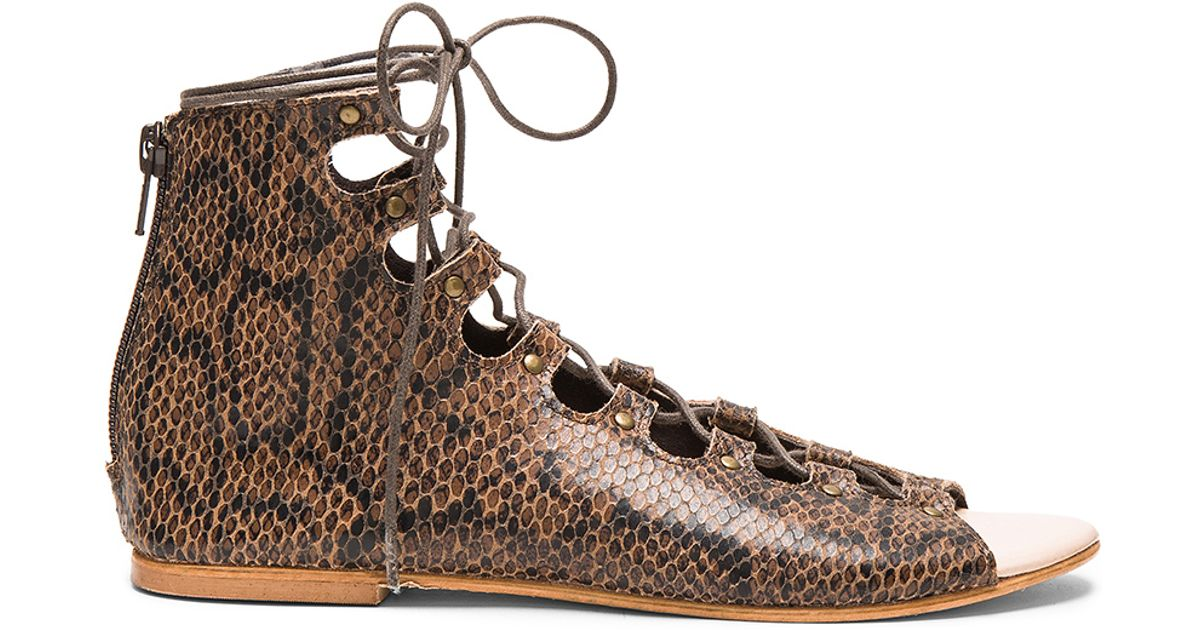 14ff69beab7a40 Lyst - Matisse Farrel Sandal in Brown