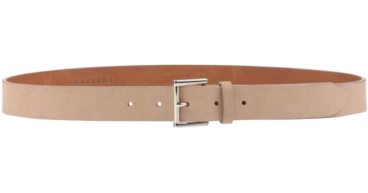orciani belt in brown for light brown save 25 lyst