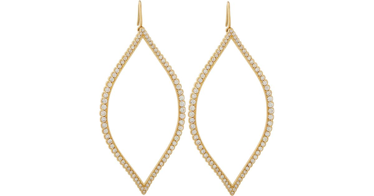Jamie Wolf Diamond Marquis Leaf Drop Earrings hDNXi