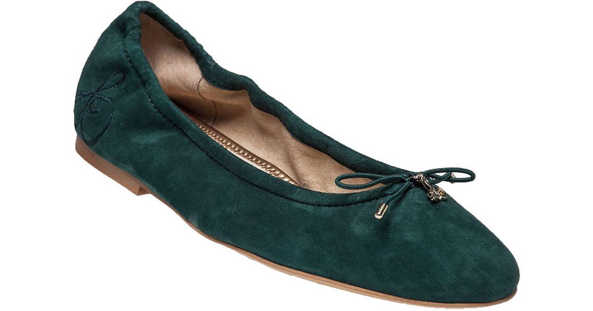 26fe6e066 Lyst - Sam Edelman Felicia Suede Ballet Flats in Blue