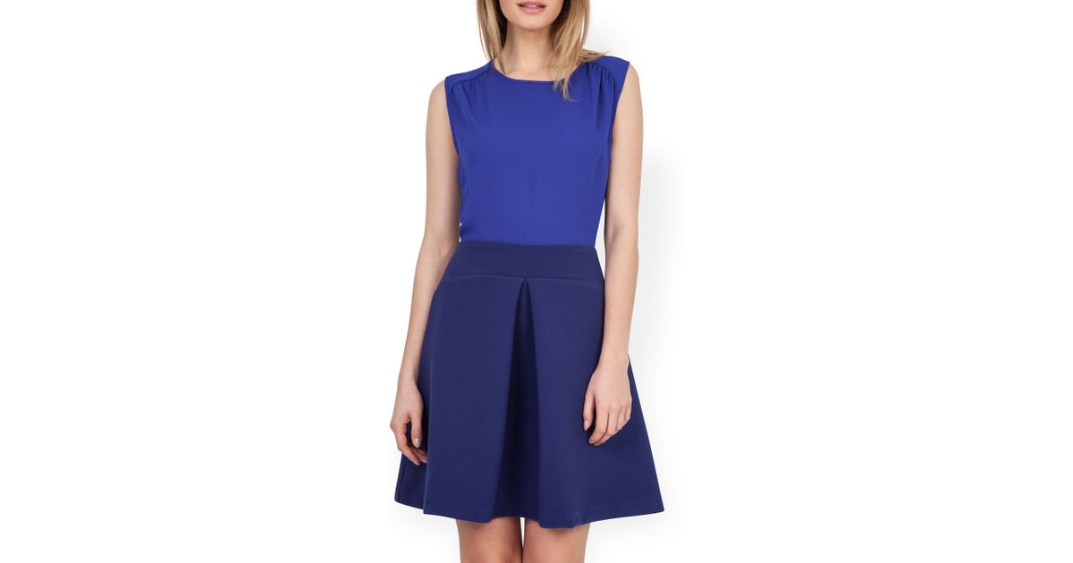 closet pleat a line skirt dress in blue save 31 lyst
