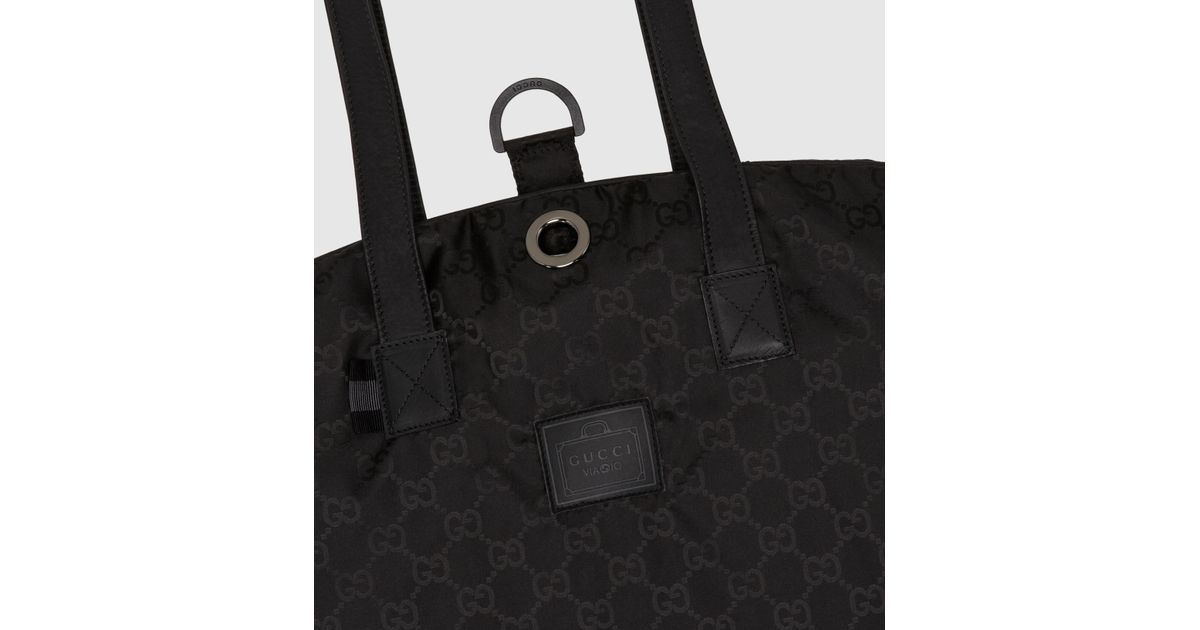 Lyst - Gucci Black Gg Nylon Garment Bag From Viaggio Collection in Black  for Men 3d014f30810bd