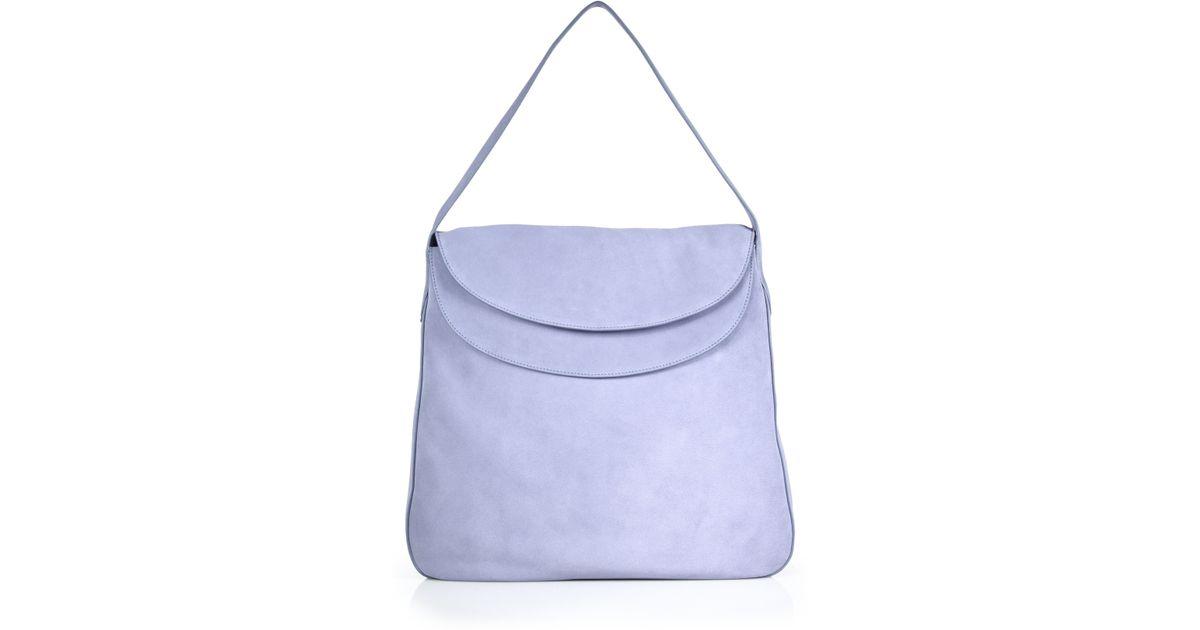 d833dcbb9b ... cheap lyst prada double flap suede shoulder bag in blue 53d67 75330