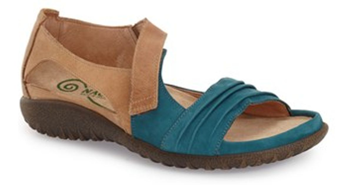 Naot Papaki Sandals In Blue Teal Latte Leather Lyst