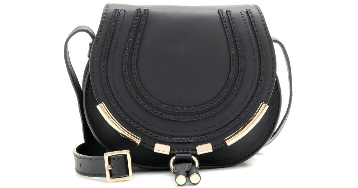 Chlo¨¦ Marcie Small Leather Shoulder Bag in Black (black made in ...