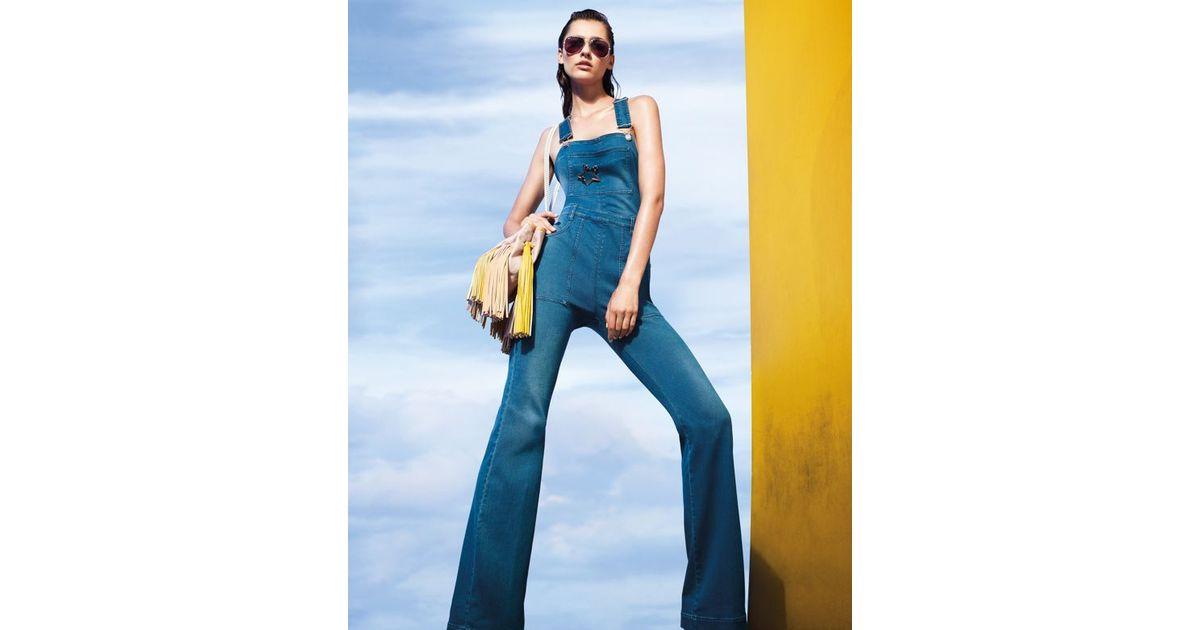 798805145af Lyst - Stella McCartney Denim Overalls in Blue