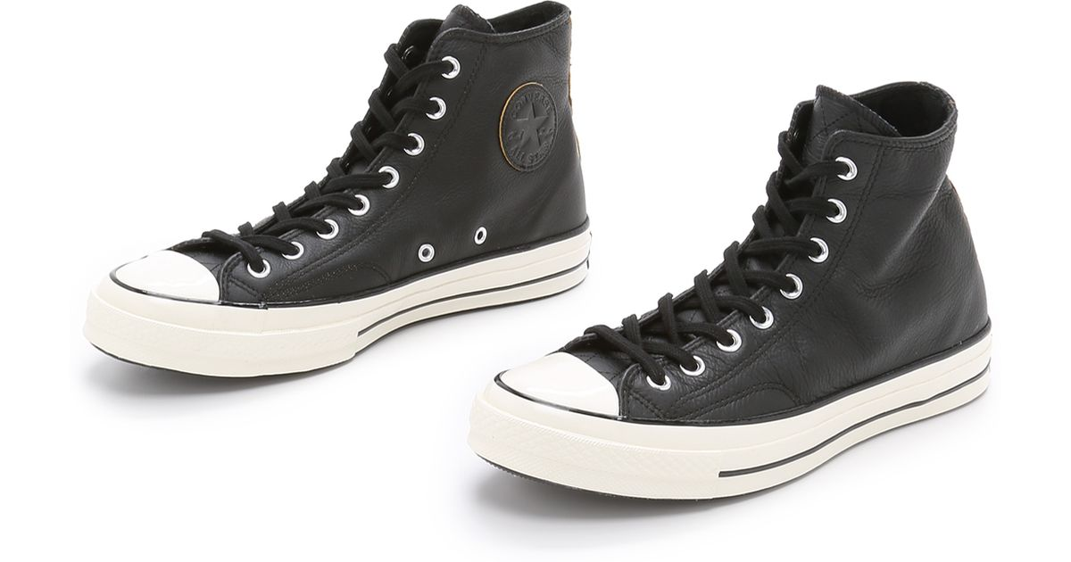 12cb1af7d8b1 Converse Chuck Taylor All Star  70s Leather High Top Sneakers in Black for  Men - Lyst