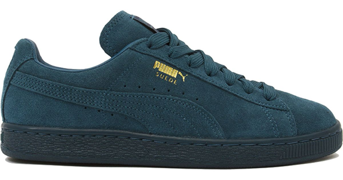 Lyst - PUMA Suede Classic + Mono Iced Sneakers - Blue Coral in Blue 927748e23348