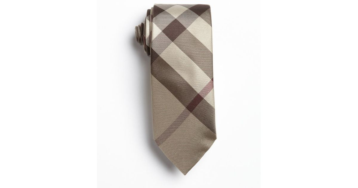 c83d8256e395 ... usa lyst burberry brown nova check print silk tie in red for men b3d1b  74311 ...