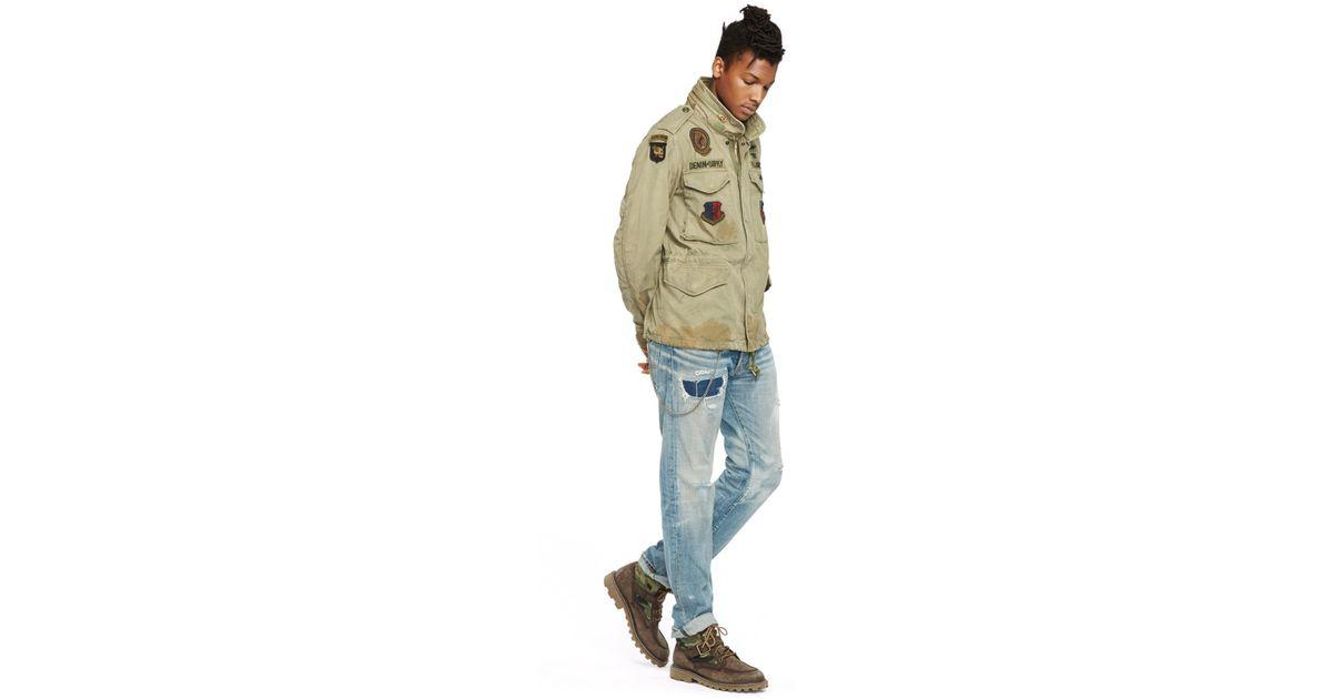 Denim Amp Supply Ralph Lauren Canvas Field Jacket In Green