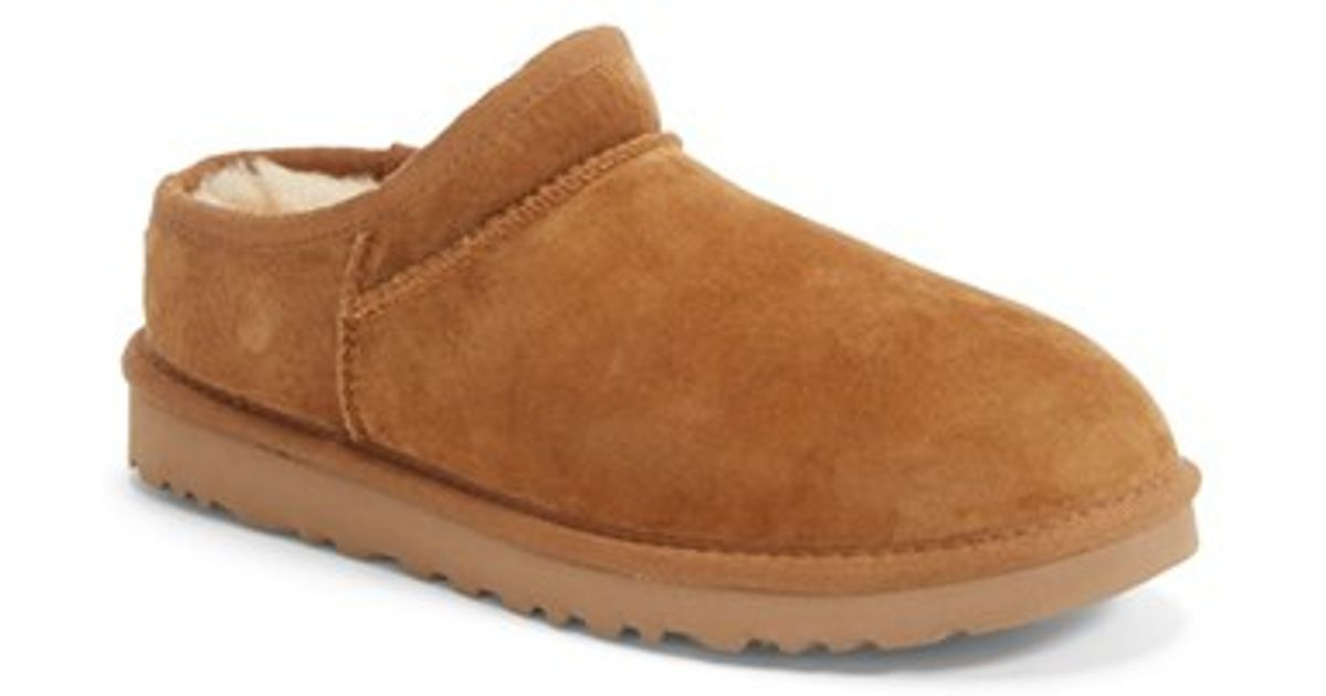 f613d3a90ade Lyst - UGG Ugg  classic  Water Resistant Slipper (women)