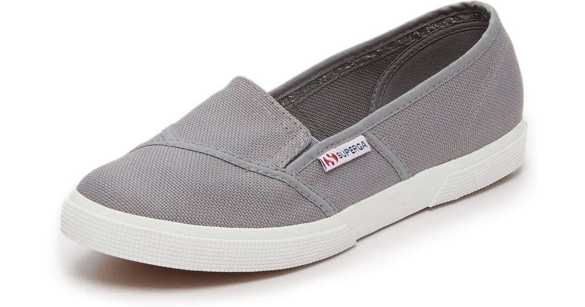 Lyst - Superga Cotu Slip On Sneakers in Gray 467808c16