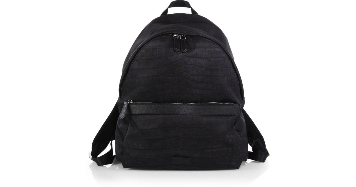 bea628f2db Fendi Zaino Nylon & Leather Backpack in Black for Men - Lyst