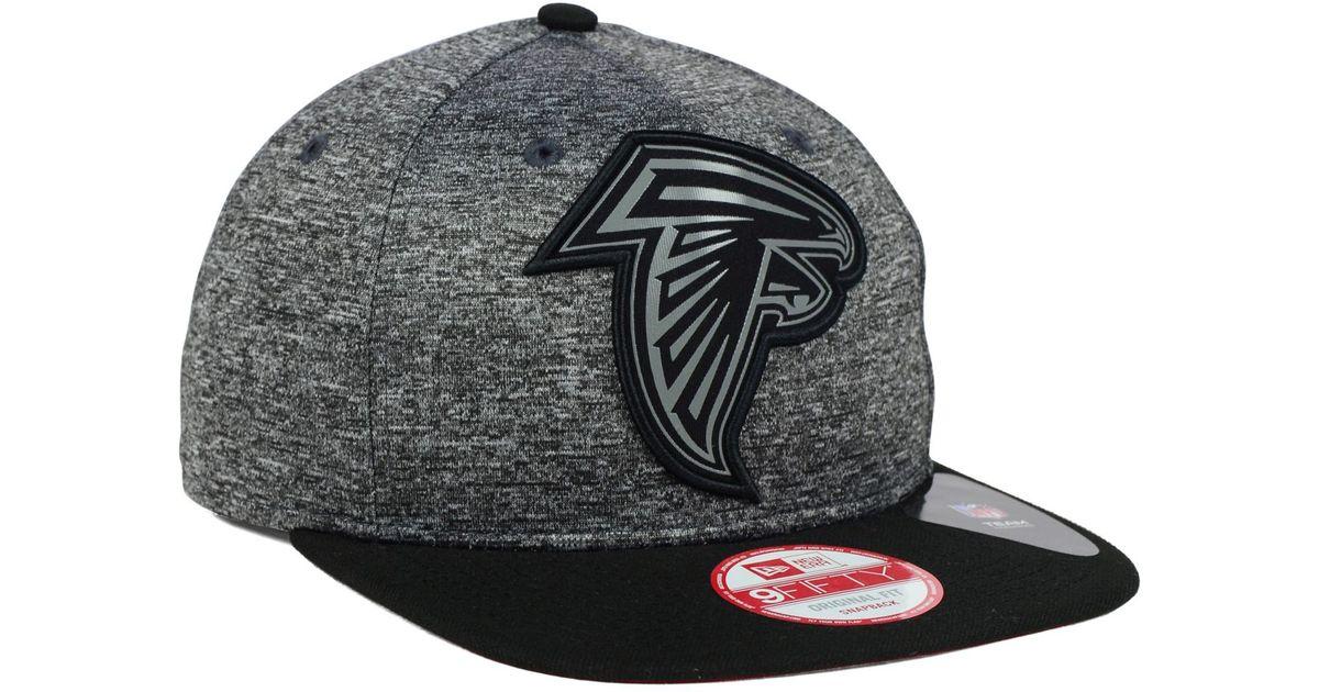 da34f4b3 KTZ - Gray Atlanta Falcons Gridiron 9fifty Snapback Cap for Men - Lyst