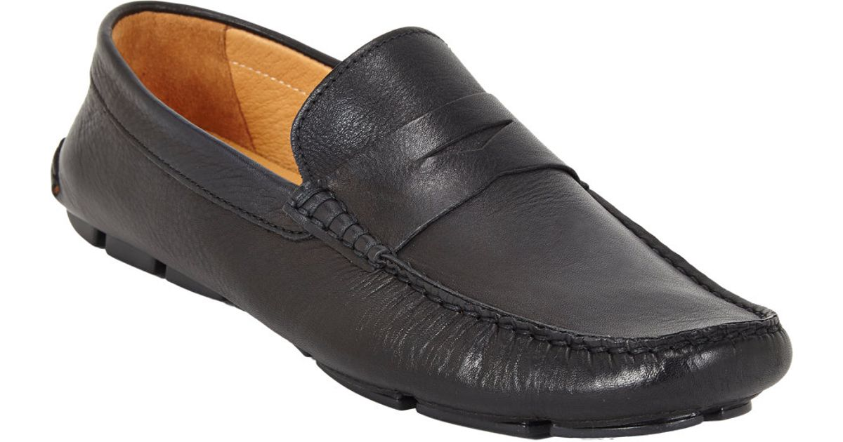d7a8ee7cd20bd Lyst - Barneys New York Penny Drivers in Black for Men