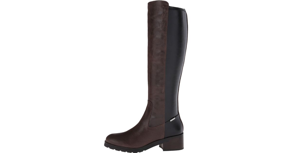 Womens Boots Calvin Klein Salomon Espresso Leather
