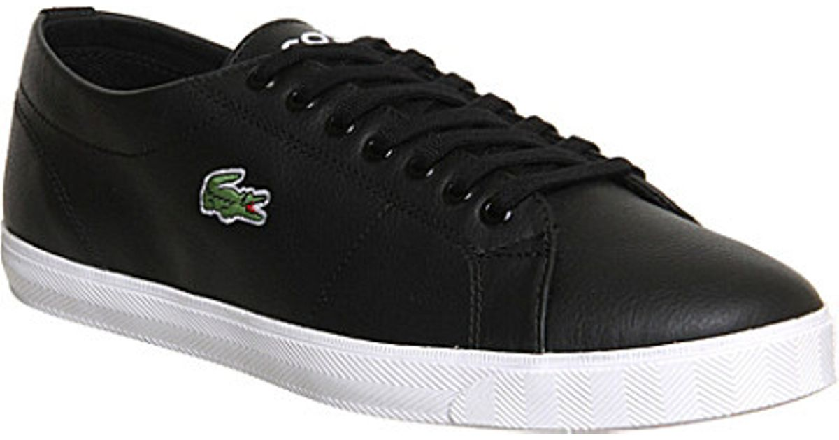 005035b898a048 Lacoste Marcel Leather Lace-up Trainers in Black for Men - Lyst