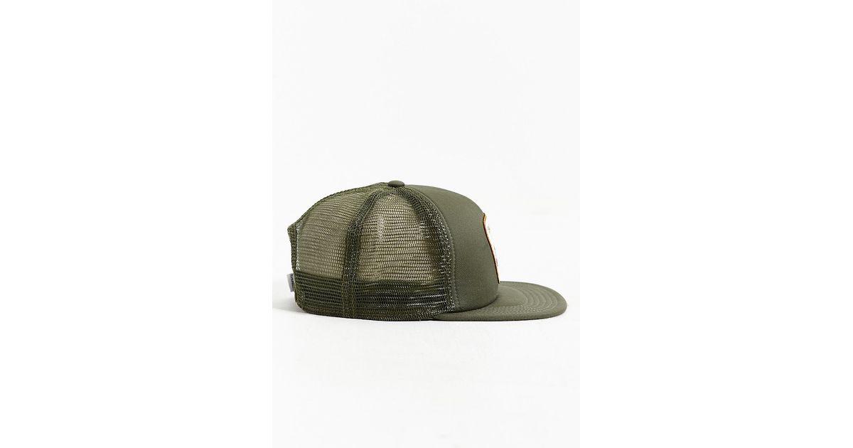 Lyst - Coal The Bureau Snapback Trucker Hat in Green for Men e02827d3c0d