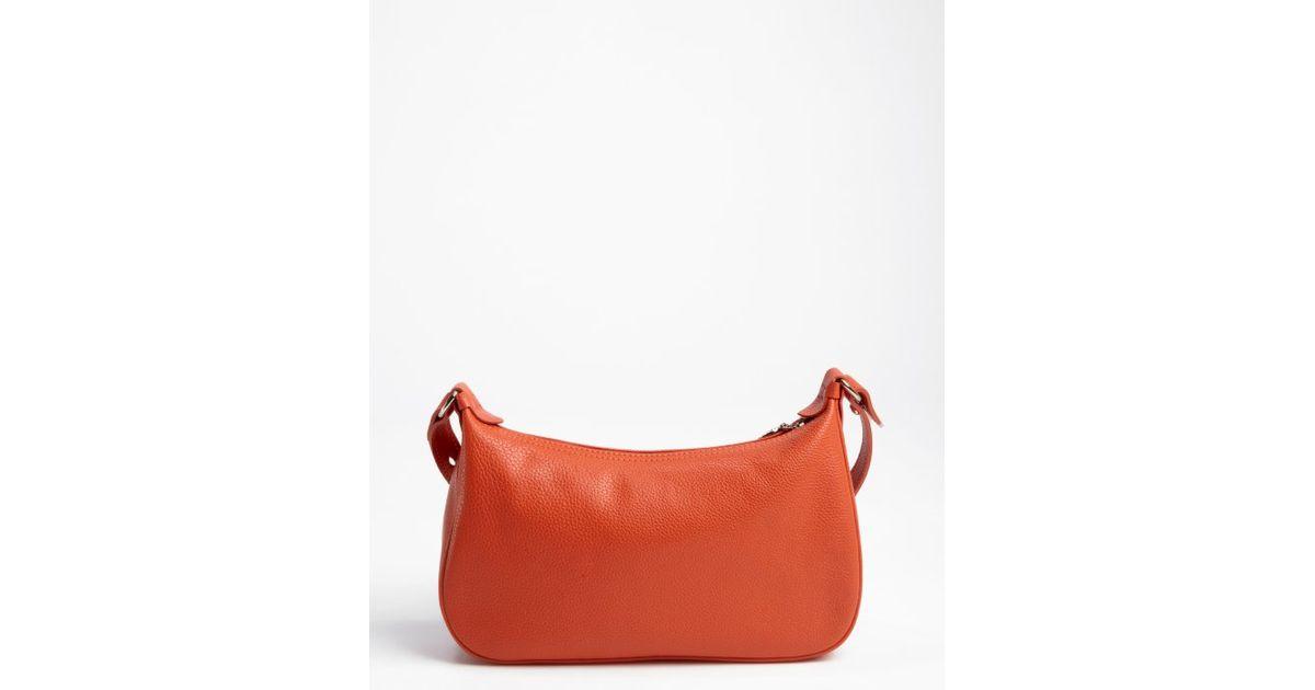 Longchamp Paprika Leather Crossbody Bag in Orange - Lyst 55128a125c333
