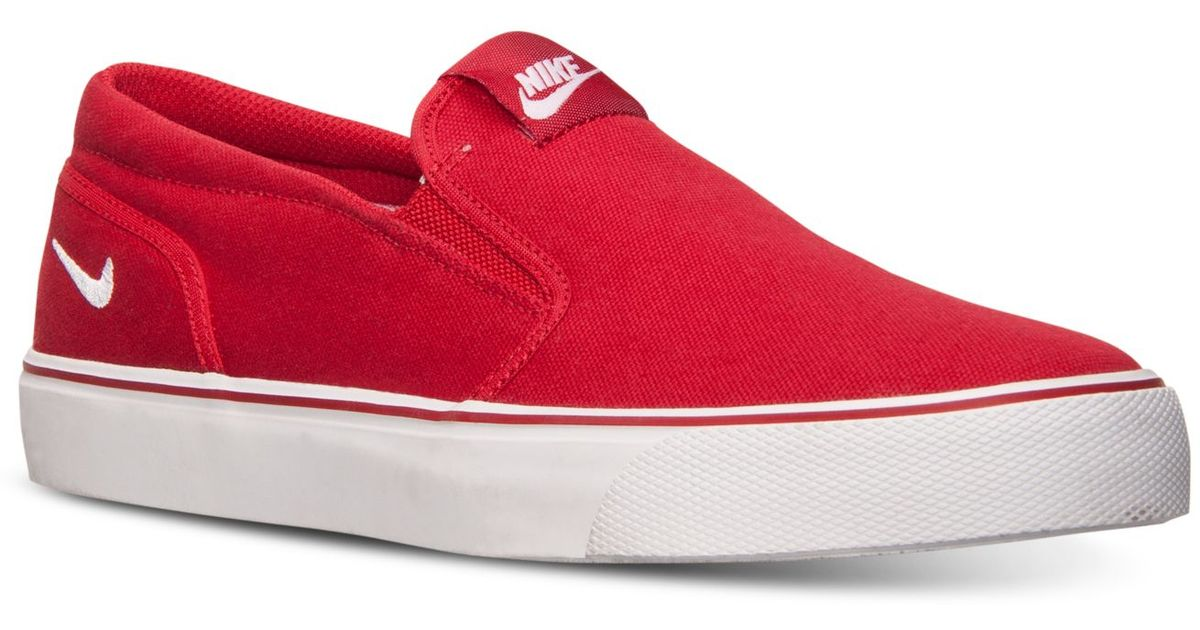 timeless design 1bbae 5a347 ... get lyst nike mens toki slip txt casual sneakers from finish line in  red for men